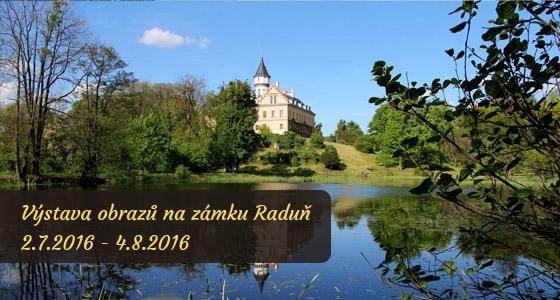 Výstava obrazů na zámku Raduň - Dagmar Zemánková