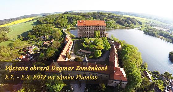 Zámek Plumlov - výstava obrazů - Dagmar Zemánková