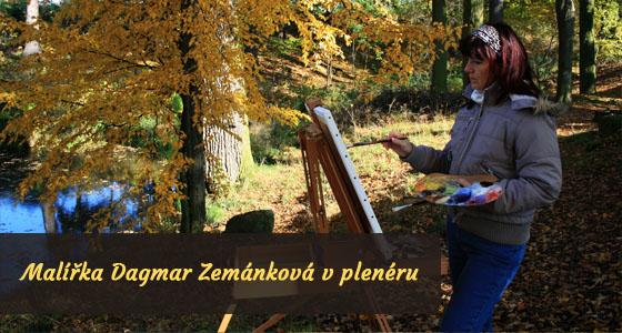 Malířka Dagmar Zemánková v plenéru - Dagmar Zemánková