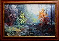 obraz Podzim u Rešovských vodopádů