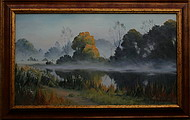 obraz V ranním oparu