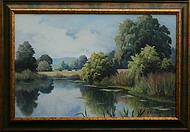 obraz V tichém zákoutí rybníka