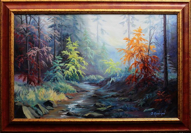 Prodejní galerie - Podzim u Rešovských vodopádů