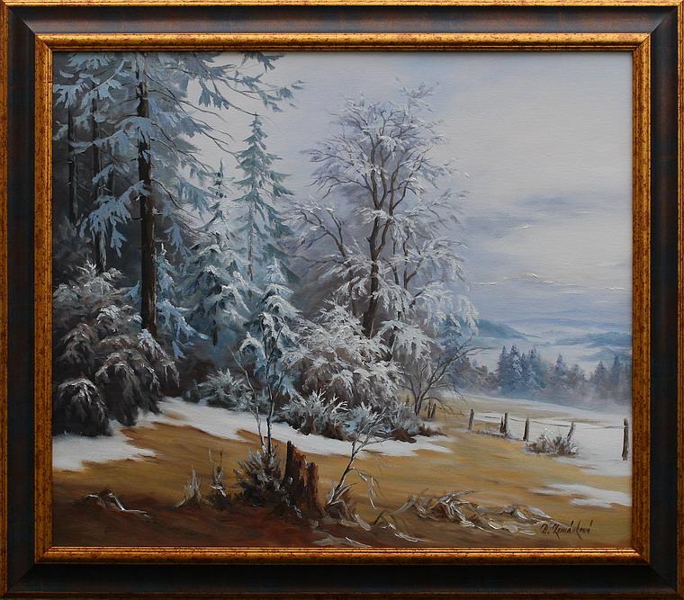 Prodejní galerie - Mlhavé ráno na Jesenicku