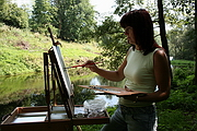 Malířka v plenéru